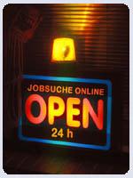 Foto: Jobsuche online - open 24 hours
